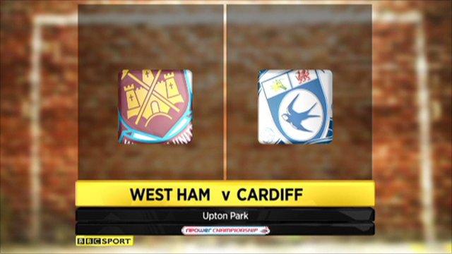 West Ham 0-1 Cardiff