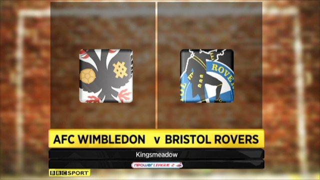 AFC Wimbledon 2-3 Bristol Rovers
