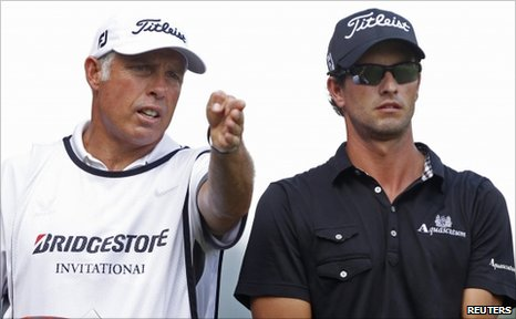 Steve Williams (left) and Adam Scott