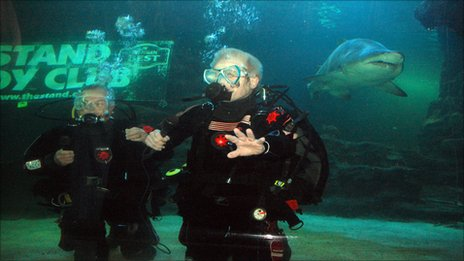 Paul Sneddon and Wullie Brannan at Deep Sea World
