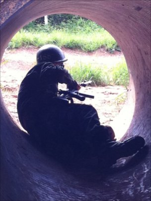 New army conscripts play ear-splitting war-games at the Nonsan training base