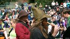 Crowds attending Nottingham&#039;s Pagan Pride 2011 at the Arboretum