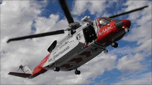 Coastguard helicopter. Photo by Kirsty Sutherland