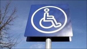 Disabled parking badge