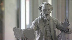 One of the Dickens statue designs