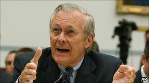 Former Defense Secretary Donald Rumsfeld. (Photo Courtesy of AP/BBC NEWS)