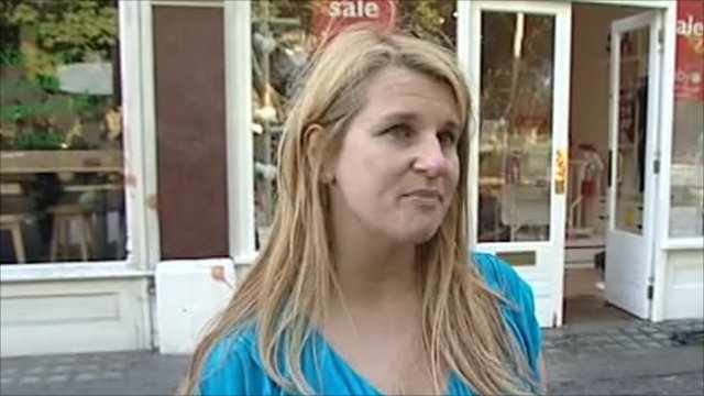 Liz Pilgrim's baby care shop was damaged by looters