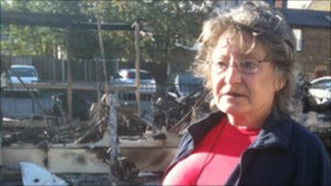 Local resident Jennifer Gray-Evans