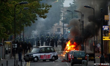Rioting in London