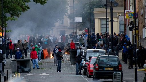 Young rioters in Hackney