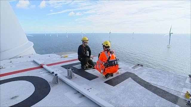 Turbine service engineer Glyn Bolton reveals what it is like to work at an offshore wind farm