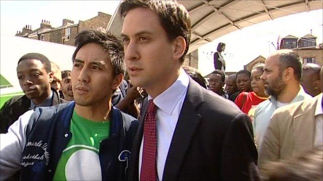 Ed Miliband visiting Peckham