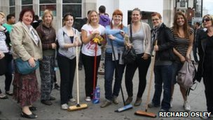 The Camden New Journal's Richard Osley uploaded a picture of the team of volunteers