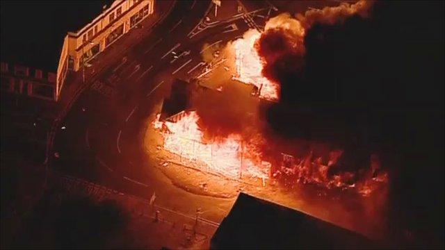 Fire in Croydon on Monday night