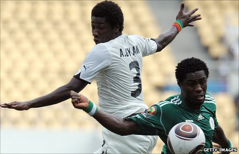 Nigeria v Ghana in 2010