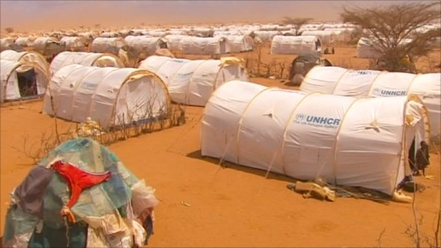 Tents in the refugee camp at Dadaab