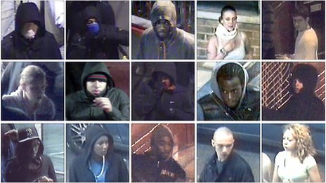 CCTV images of London riot suspects