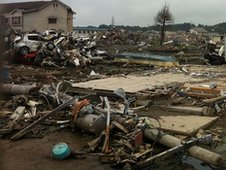 Many houses were washed away