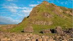 Giant's Causeway against blue sky