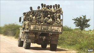 Ethiopian troops moving towards Mogadishu, 2006