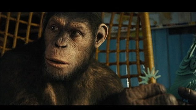 Scene from the Rise of the Planet of the Apes