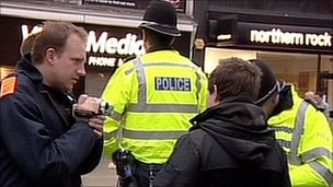 Police in Leicester interview youth