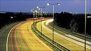 Motorway at night (generic)