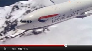 Still from the new British Airways recruitment video on YouTube