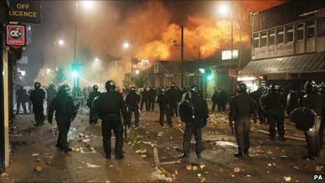 Rioting in Tottenham, north London