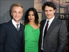 Tom Felton, Freida Pinto and James Franco