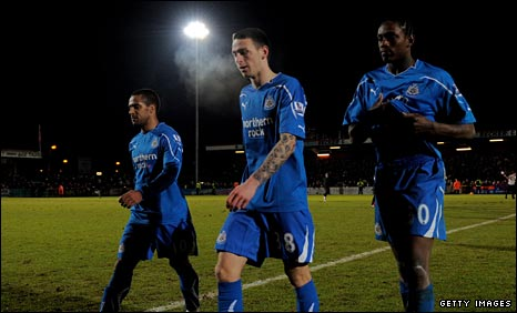 Wayne Routledge, Philip Airey and Nile Ranger