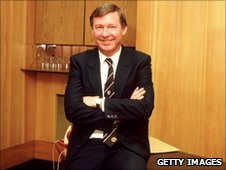 Portrait of Alex Ferguson in the 1980s. Shaun Botterill /Allsport