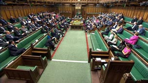 MPs in the Commons at 1625