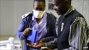 A TB patient at a clinic in Johannesburg's Alexandra township