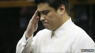 Juan Miguel Zubiri in the Philippines senate (3 Aug 2011)