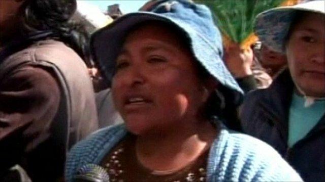 Bolivian protester