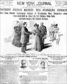 Evangelina Cisneros meets President McKinley