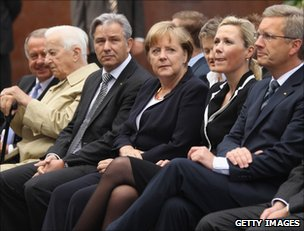German leaders attend the Berlin Wall commemoration, 13 August