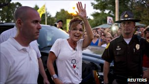 Sarah Palin at the Iowa state fair