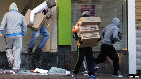 Looters in Birmingham