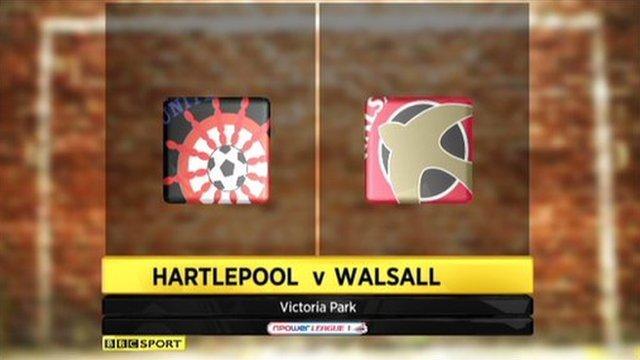 Hartlepool 1-1 Walsall