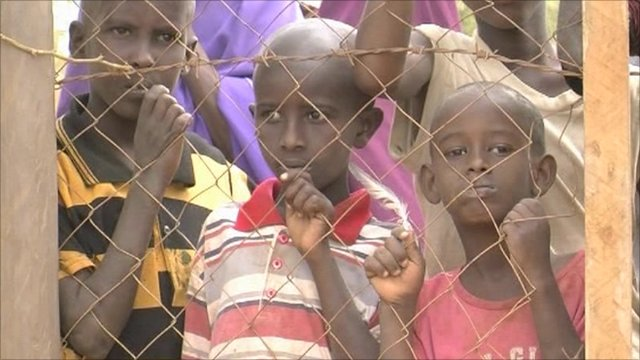 Child refugees at Dadaab camp