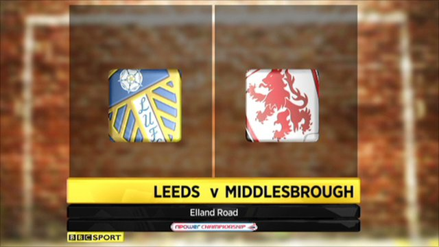 Leeds 0-1 Middlesbrough