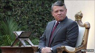 King Abdullah in Jordan, Amman (14 Aug 2011)