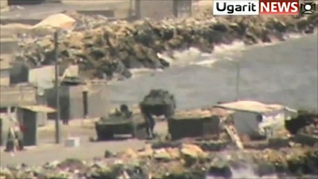 Footage of tanks in Latakia