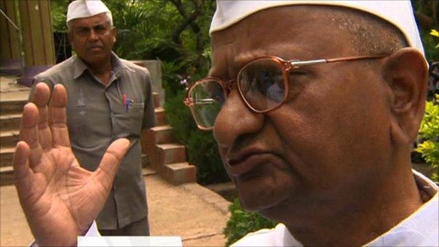 Civil rights activist Anna Hazare