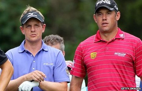 Luke Donald and Lee Westwood