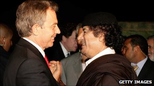Tony Blair and Col Gaddafi