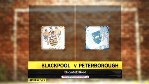 Blackpool v Peterborough