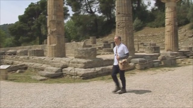 Lord Bates walking from Greece to London for the Olympic Truce